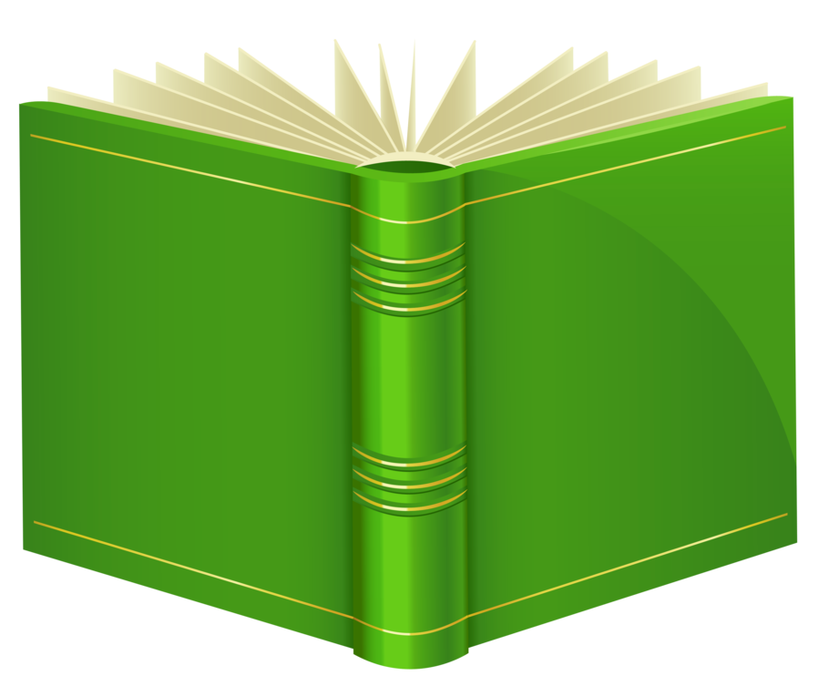 Green . Clipart png book