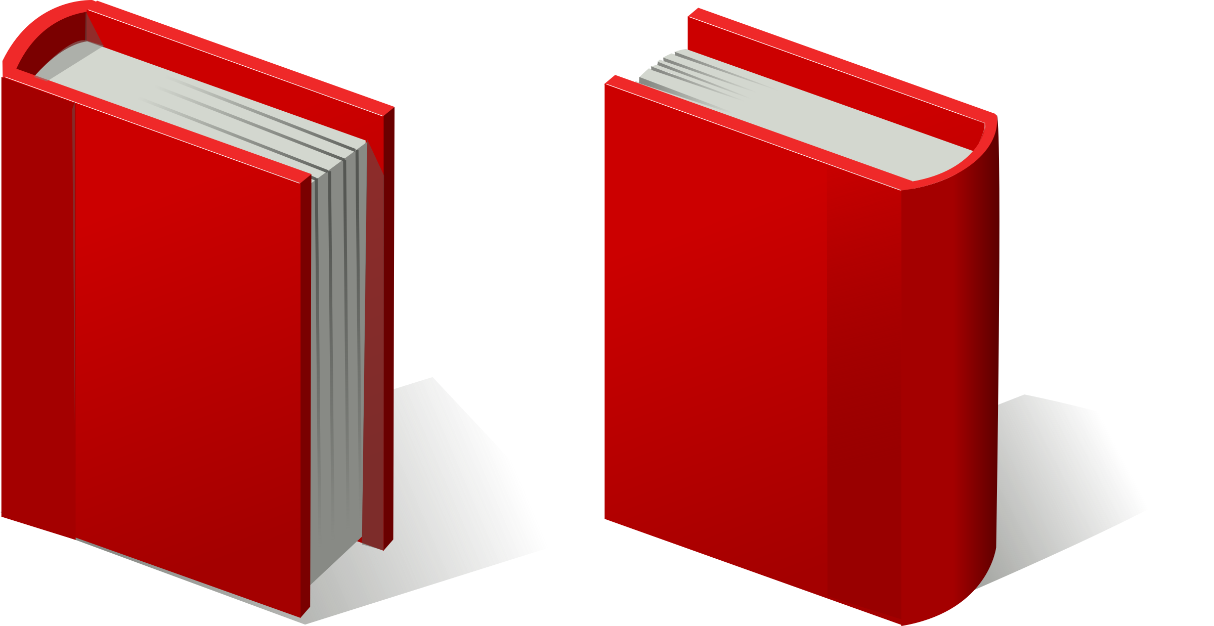 Textbook clipart vector. Pair of red books