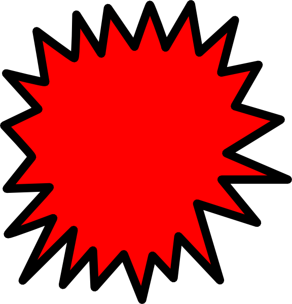 Lightning clipart comic book. Red callout clip art