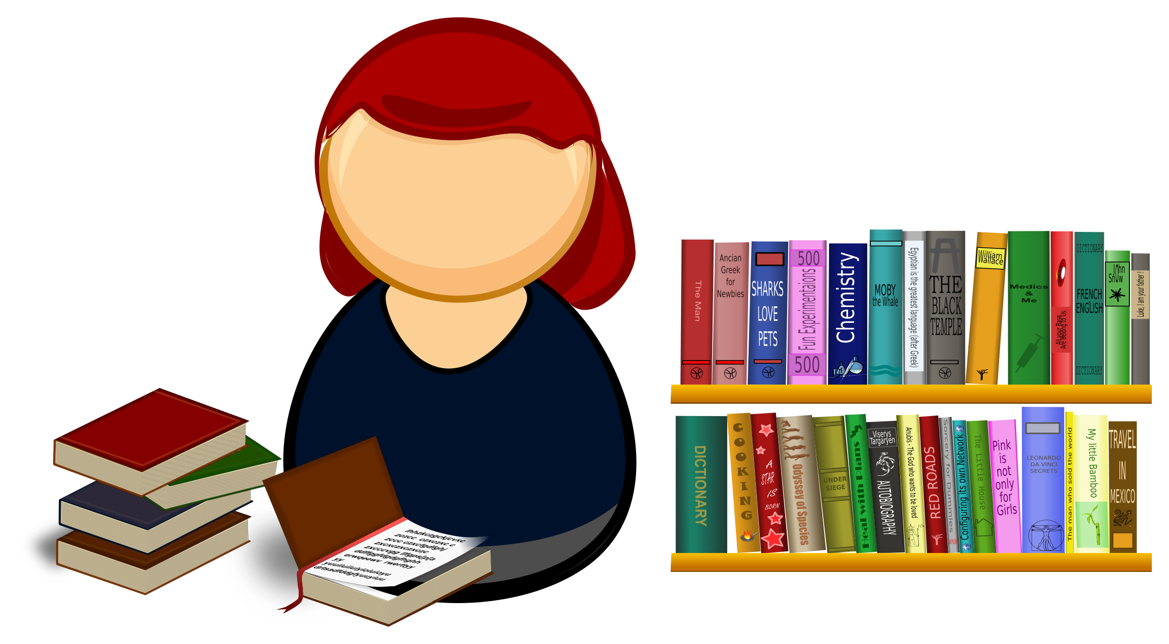 Librarian big image png. Library clipart vector