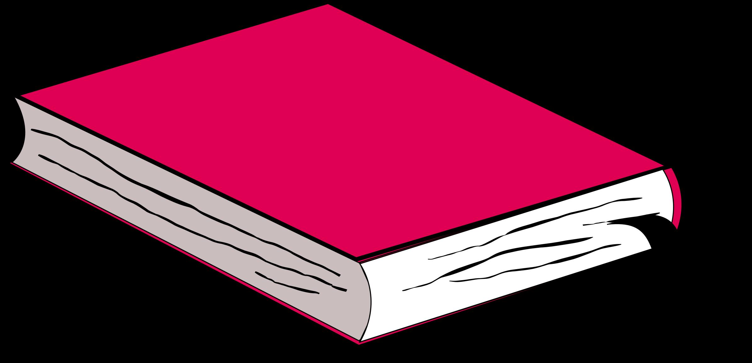 Pink no big image. Clipart book shadow