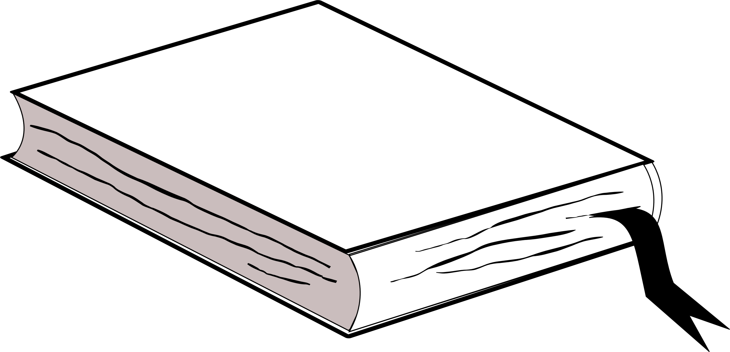 Pink with bookmark no. Clipart book shadow