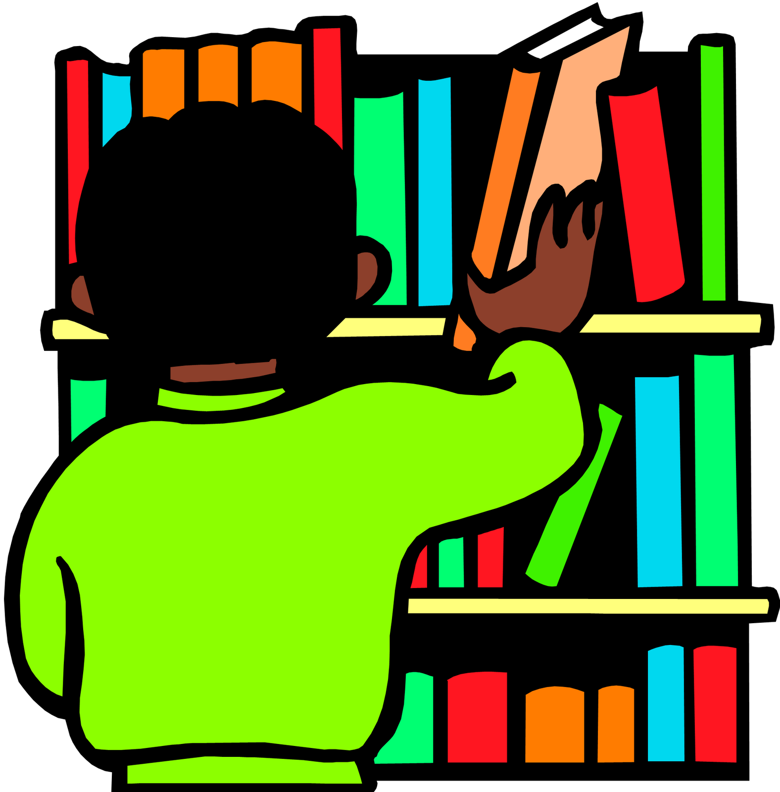 Dewey decimal classification library. Librarian clipart shelve