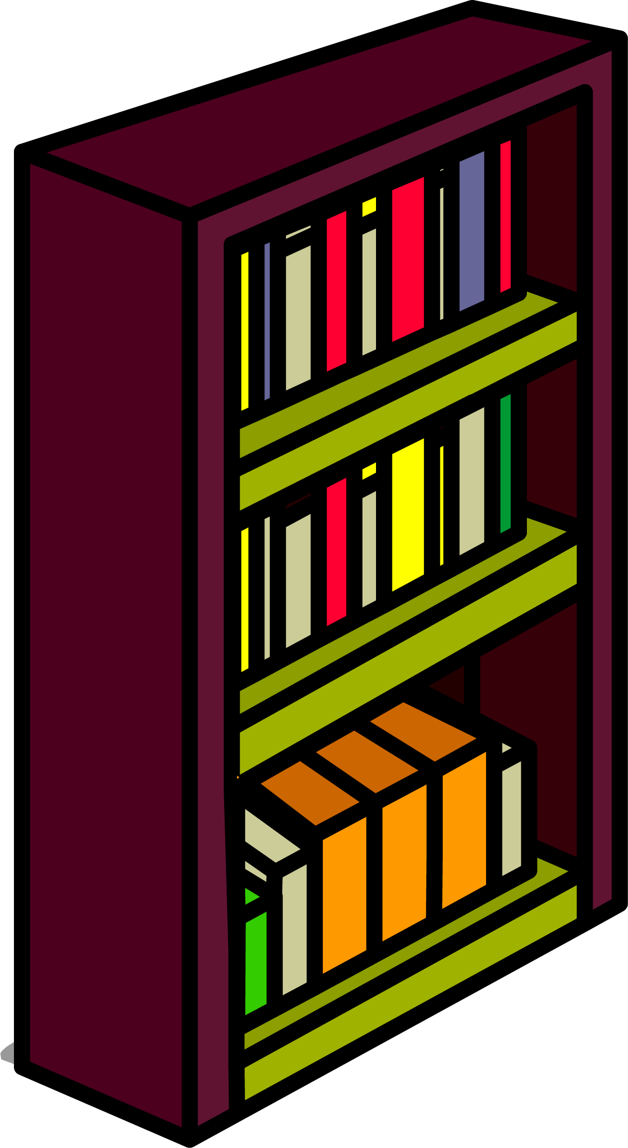 collection of png. Furniture clipart bookshelf