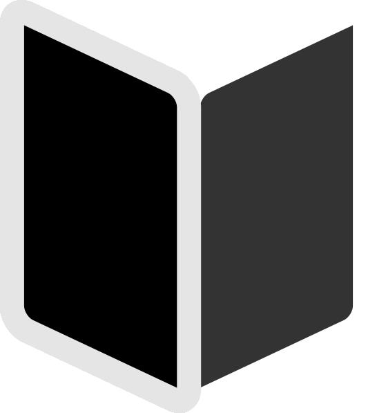 Square clipart book. Black clip art at