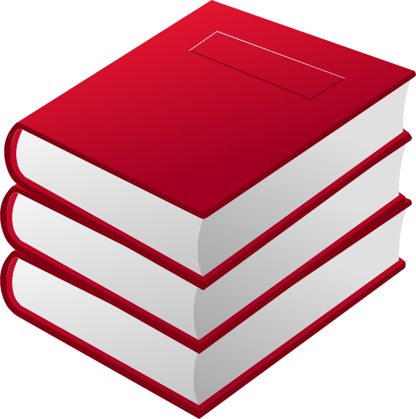 Red books pile clip. Folder clipart box book