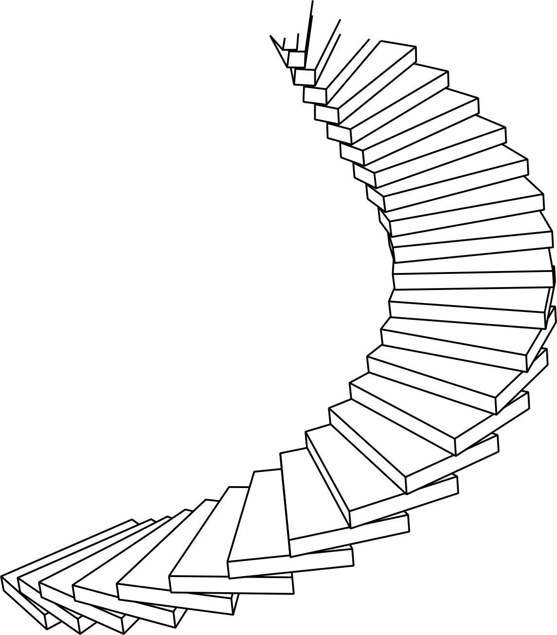 Up clipart staircase. Spiral drawing at getdrawings
