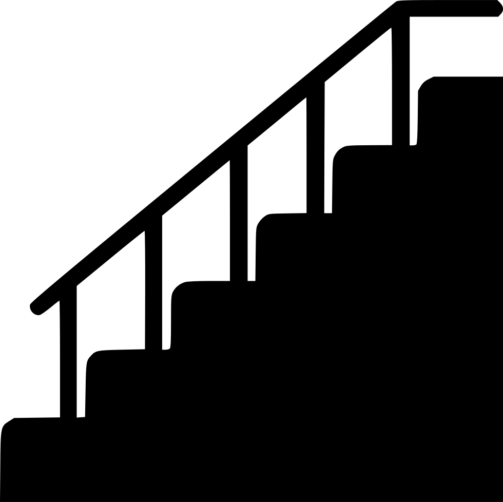 Up clipart staircase. Stair silhouette at getdrawings