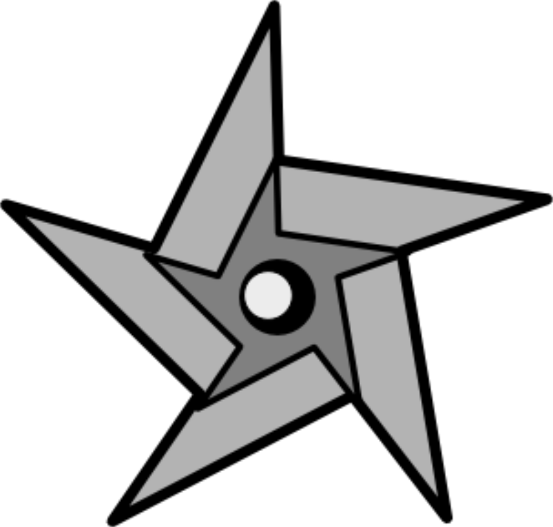Ninja star clip art. Fly clipart filthy