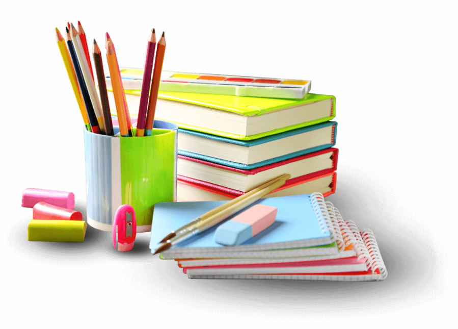 Notebook paper book stationery. Clipart books excercise