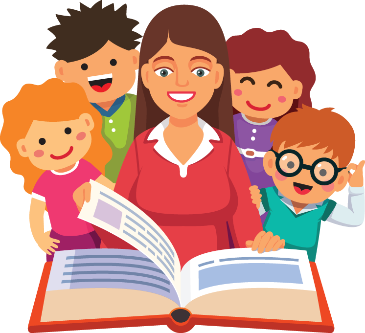 Books story time frames. Family clipart read