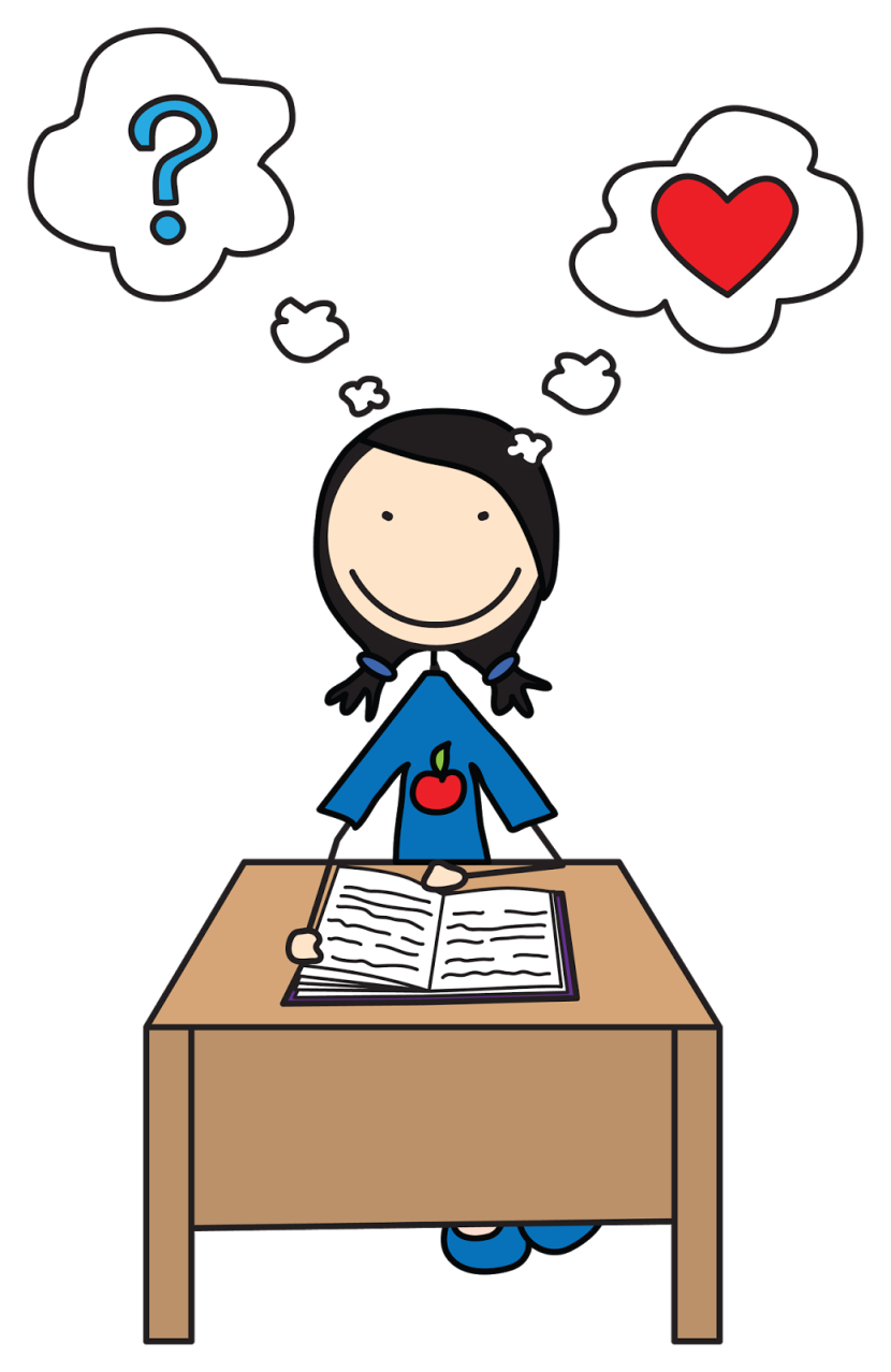 Study clipart student thinking.  collection of kids