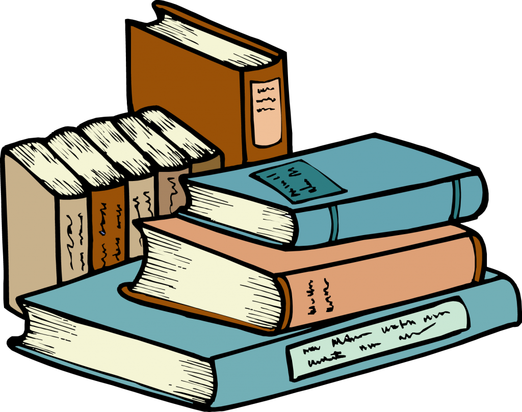 beauty stack of. Textbook clipart classic book