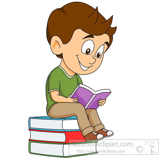 Student clipart top.  reading book clipartlook