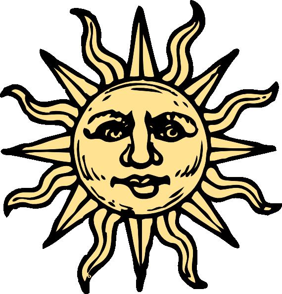 Clipart moon vintage. Sun drawings woodcut clip