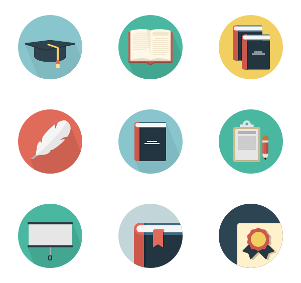 Textbook clipart tiny book. Icons free vector education