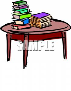 clipart book table