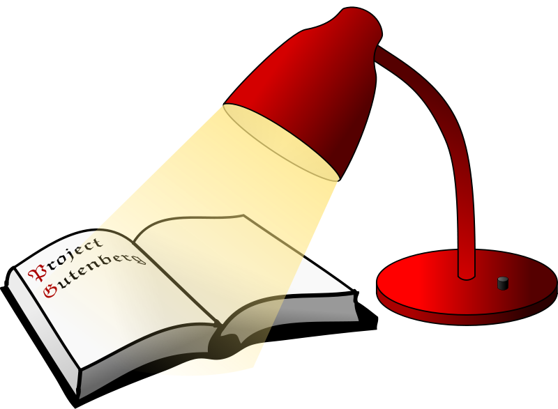 Book free graphics of. Lamp clipart cute