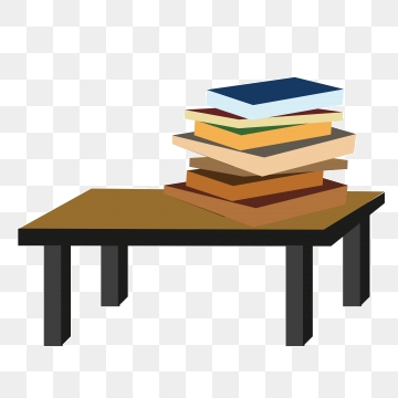 Books on the png. Clipart book table