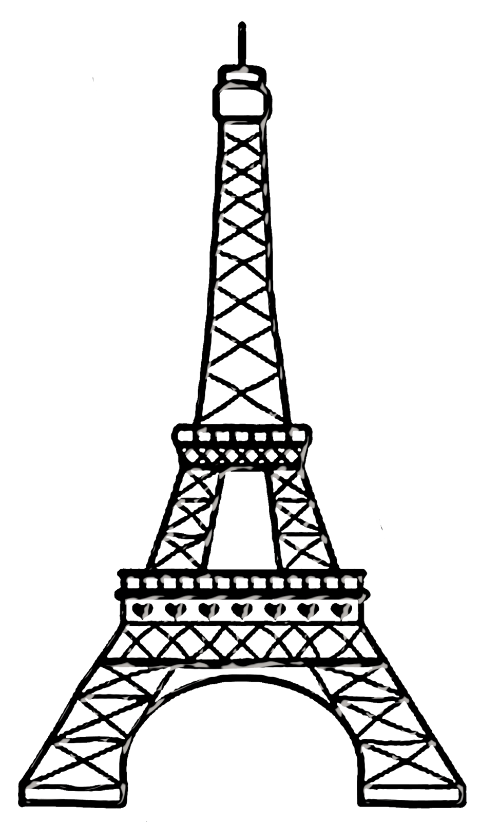 Bello chic paris drawings. Italian clipart tower