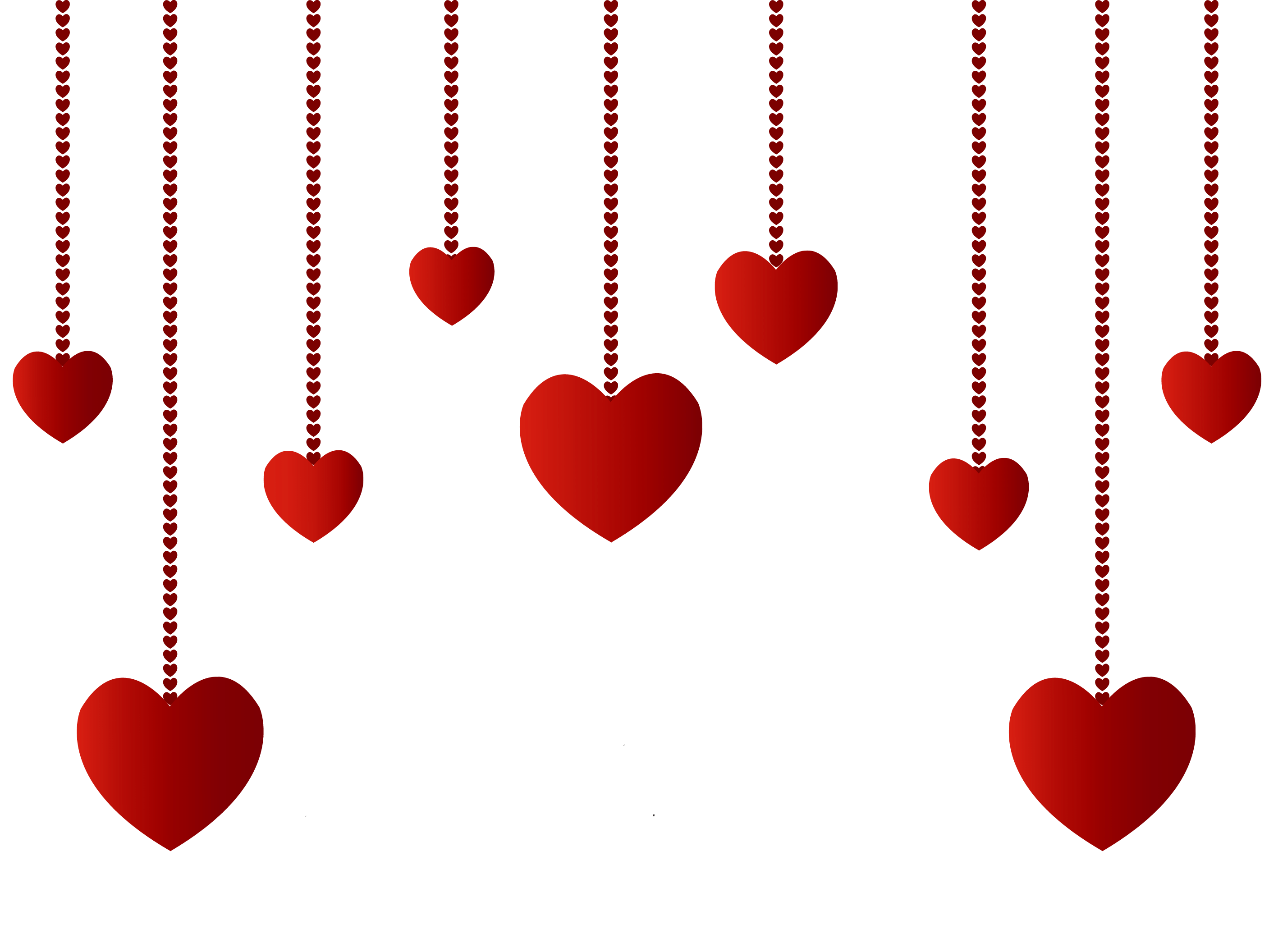 Hanging hearts png picture. Heart clipart decoration
