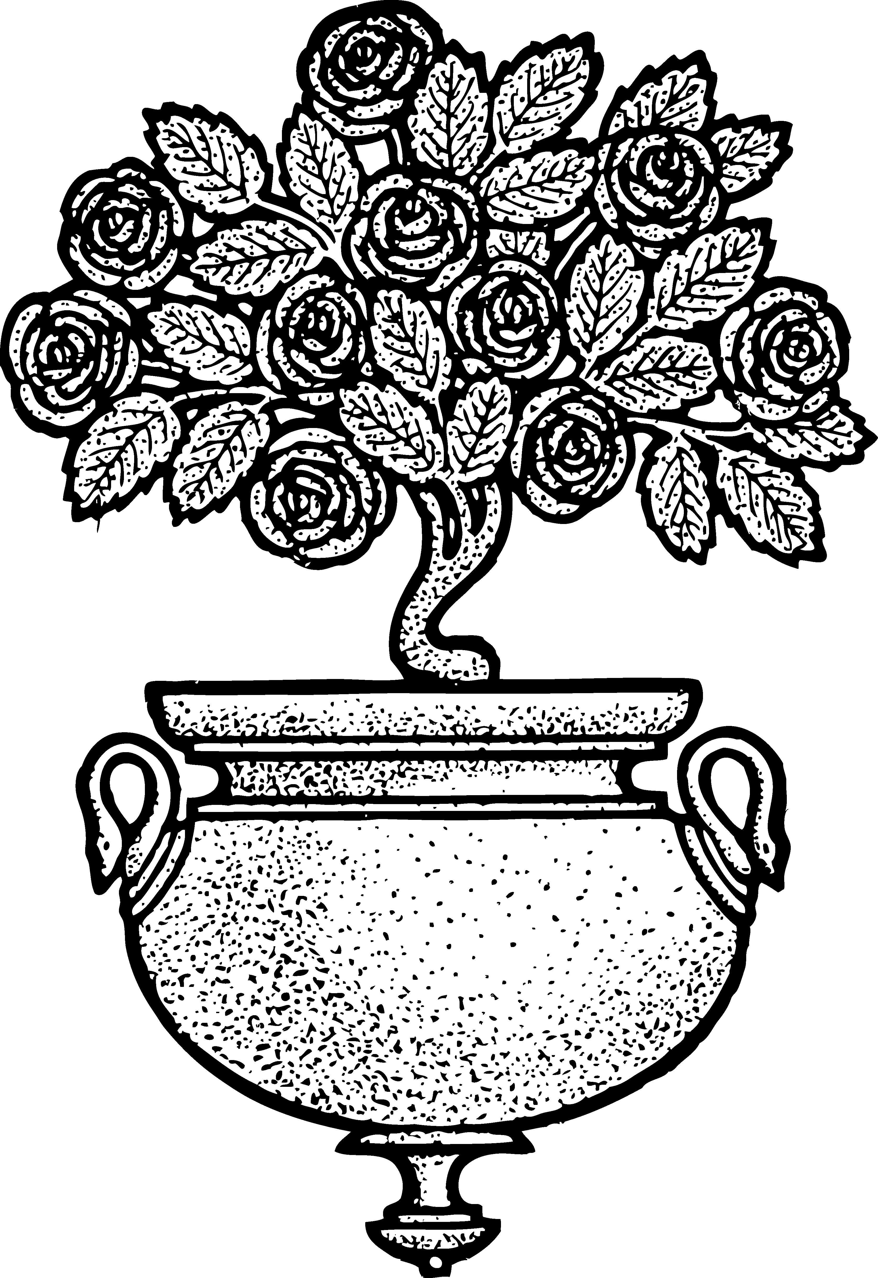 Flowers roses clip art. Nest clipart vintage