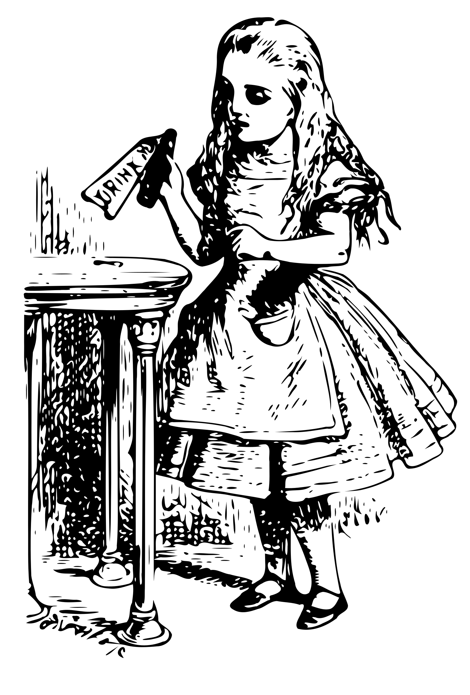 See clipart alice in wonderland. Vintage transparent png stickpng