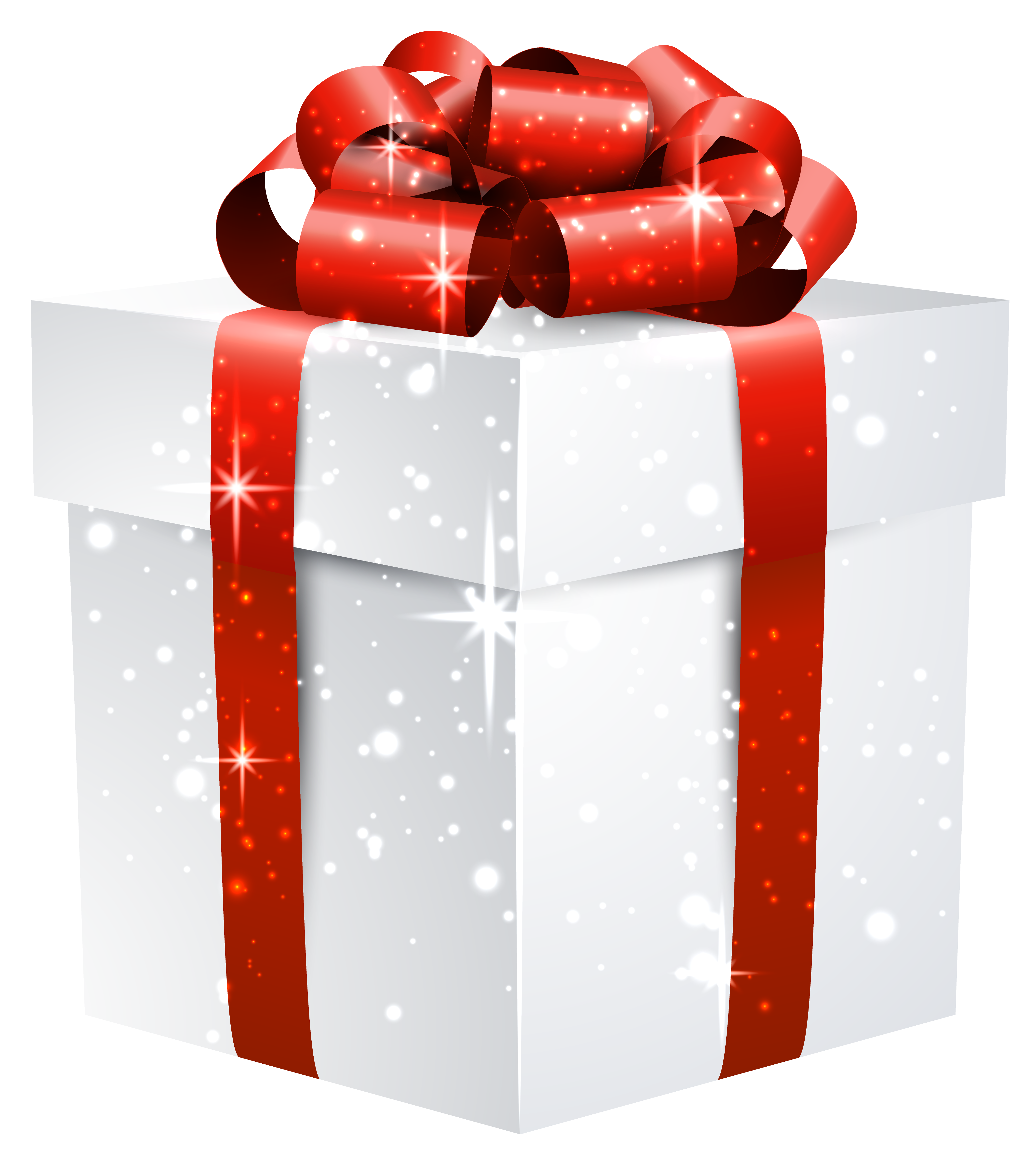 White shining box with. Gift clipart bunch
