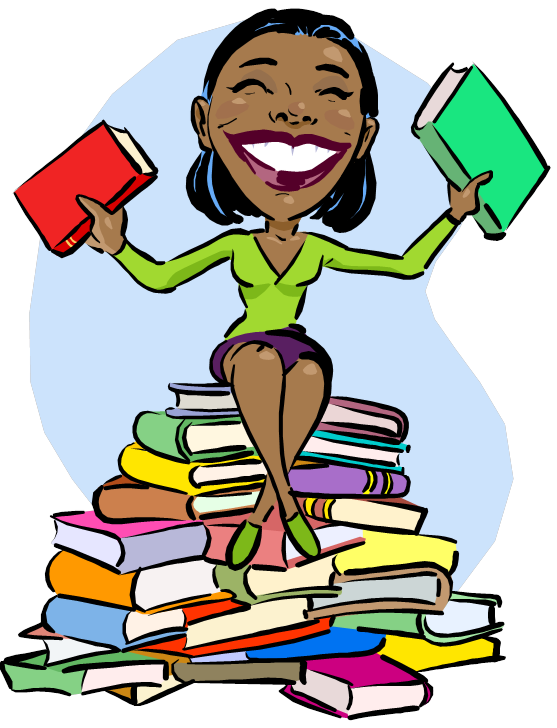 Promo sites that work. Lady clipart book