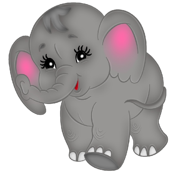 Brown Baby Elephant Clip Art Images. All Images Are On A Transparent ...