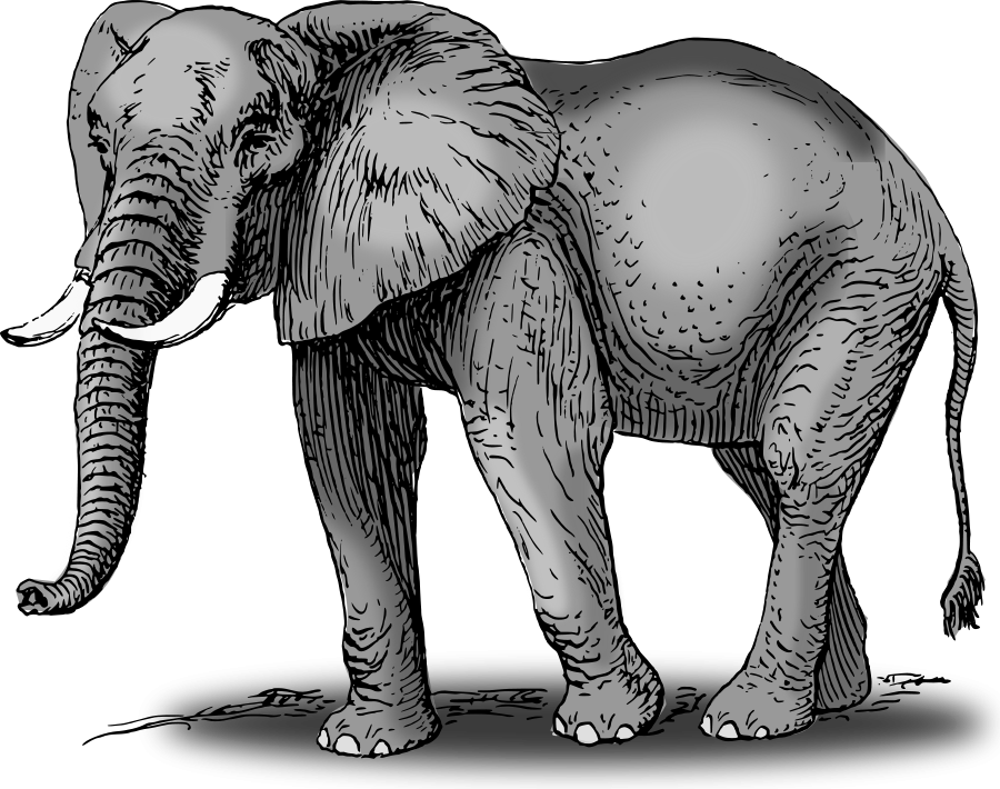 God clipart elephant. Large size colored vector