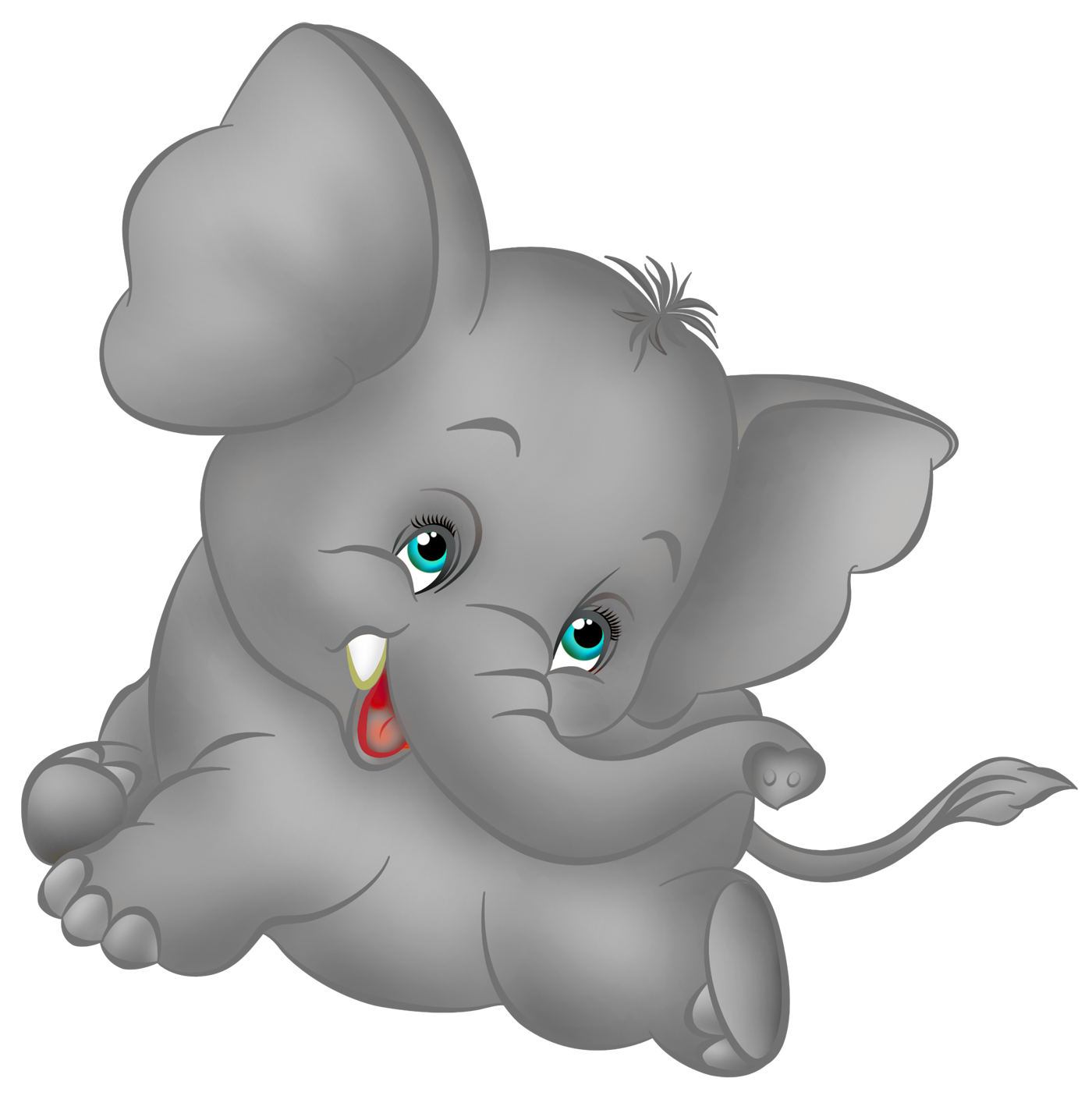 Stamp clipart animated. Grey elephant cartoon free