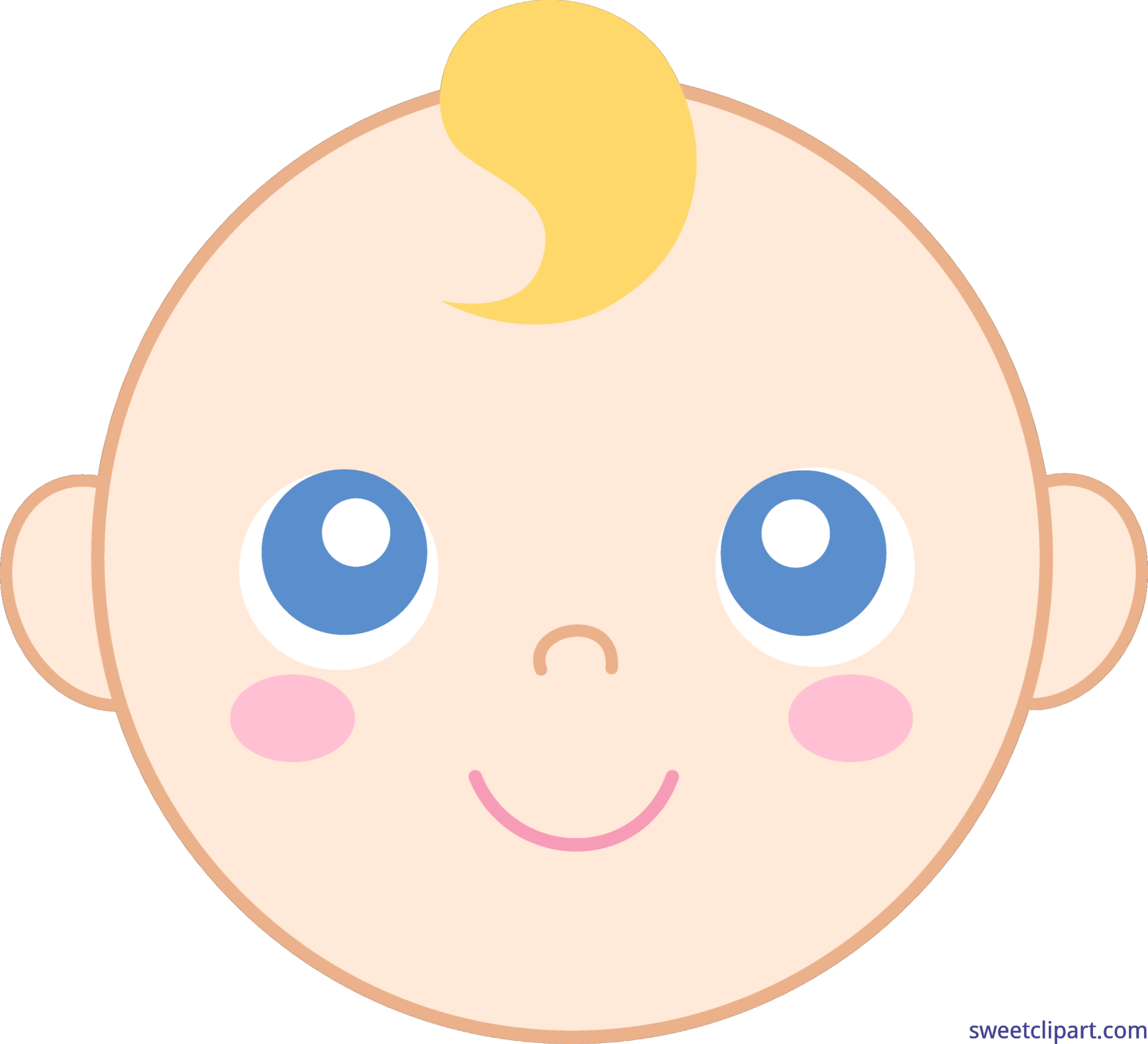 Face clip art sweet. Young clipart young baby