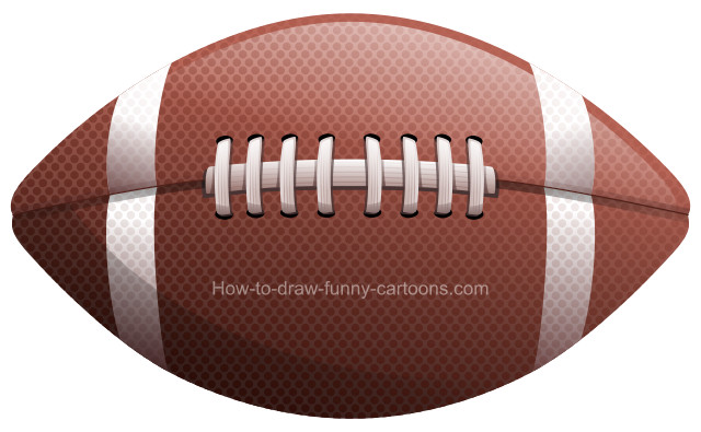 Football clipart drawing. How to draw a