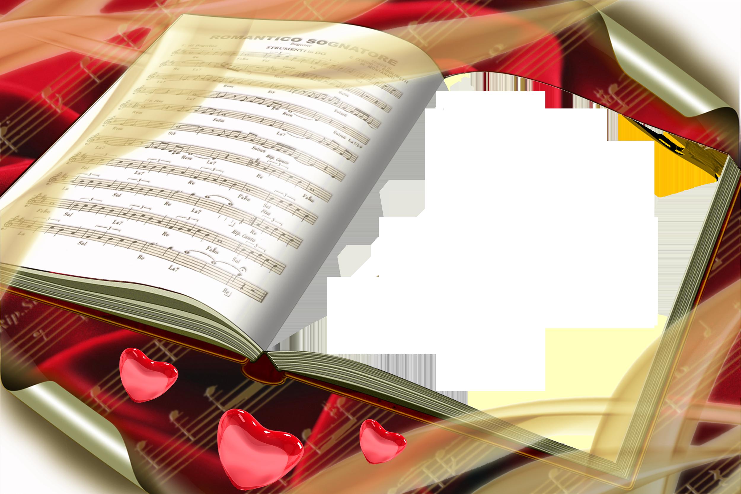 Clipart books frame. Transparent png book romantico
