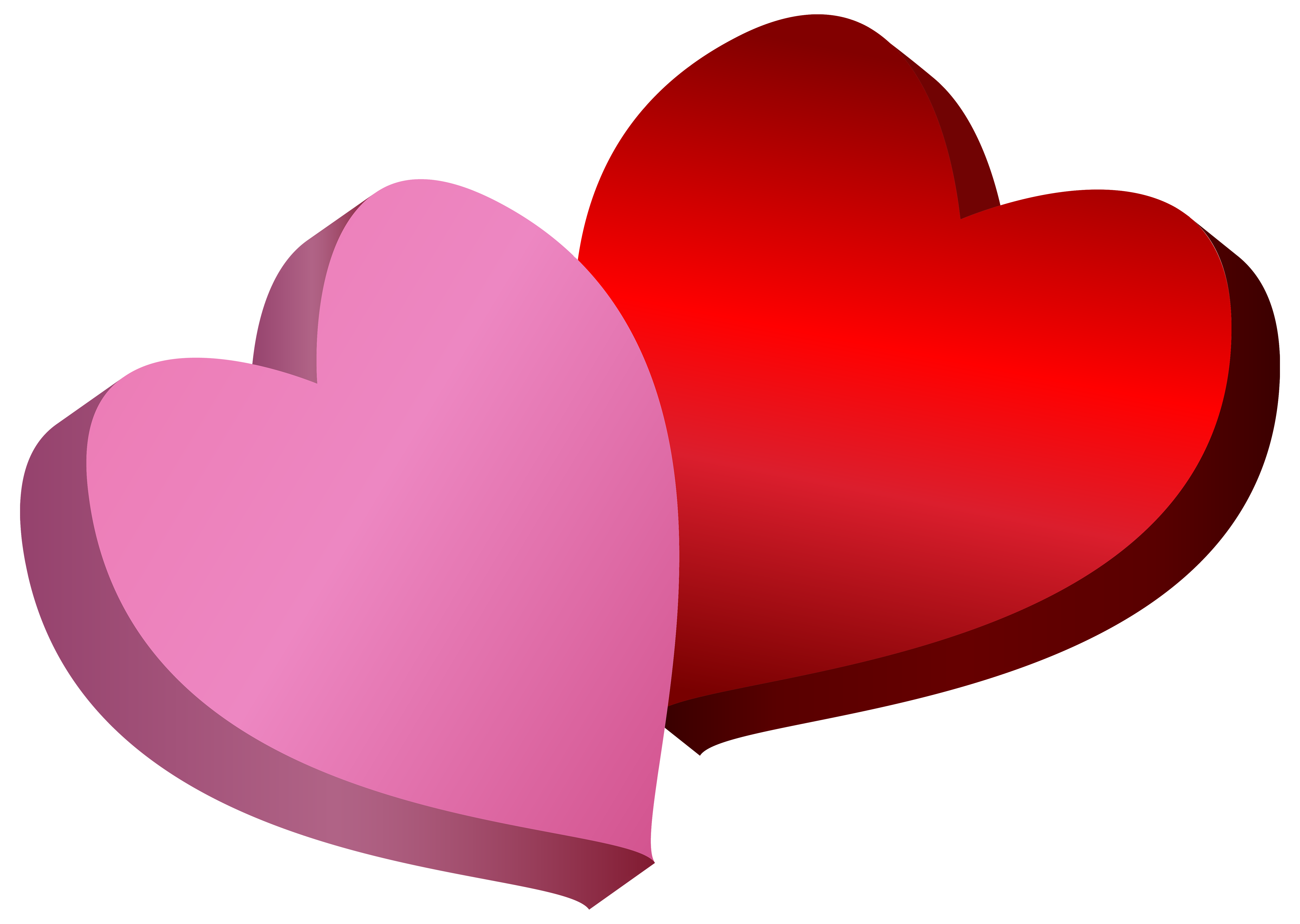 Pink and red png. Queen clipart hearts