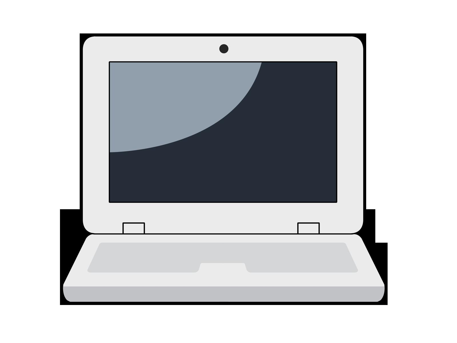 Employee clipart computer. Cartoon laptop free