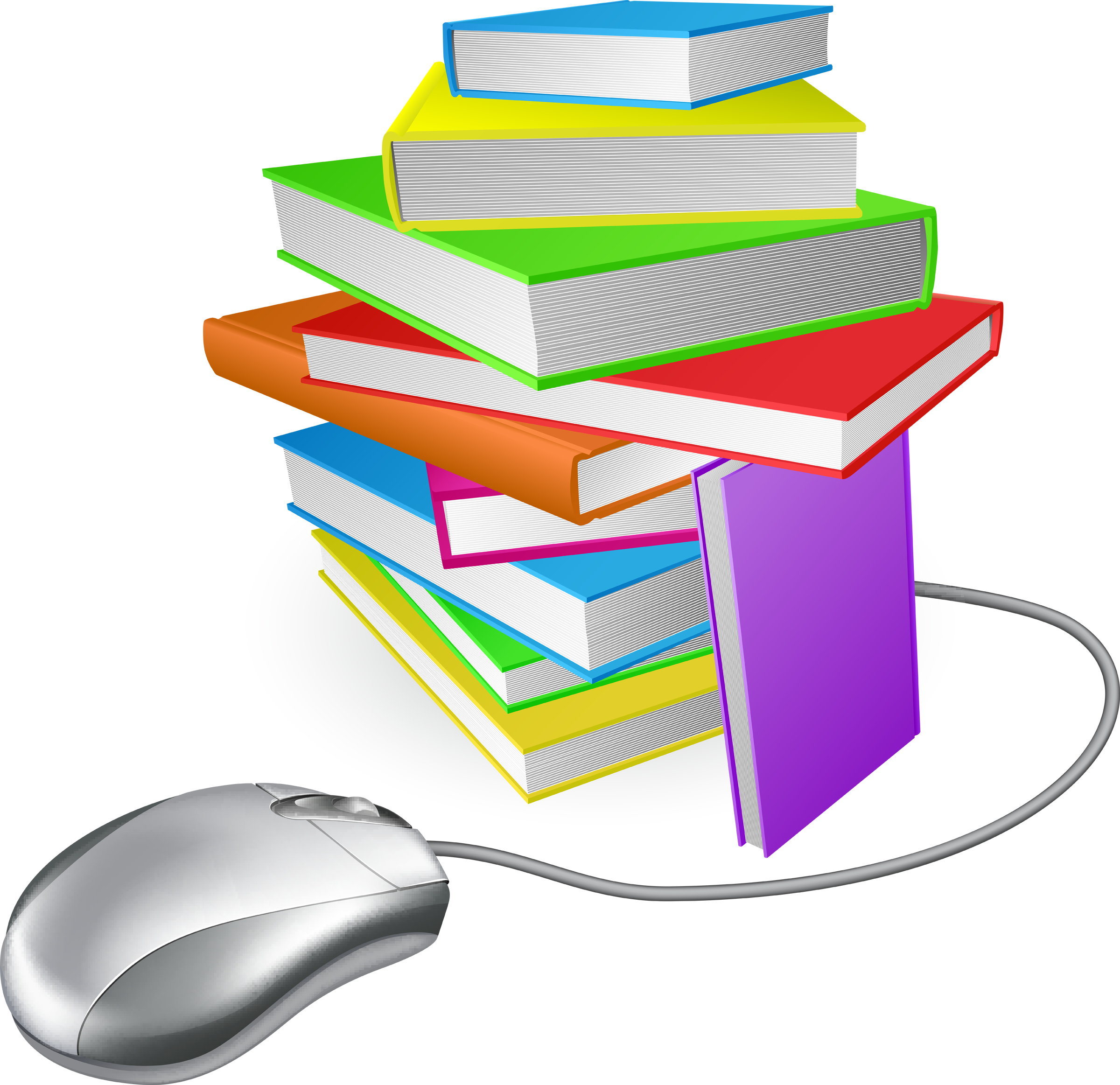 Clipart homework stack. Virtual library notes keeping