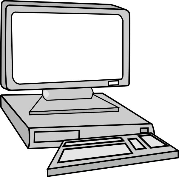 Pc clipart basic computer. Desktop monitoring clip art