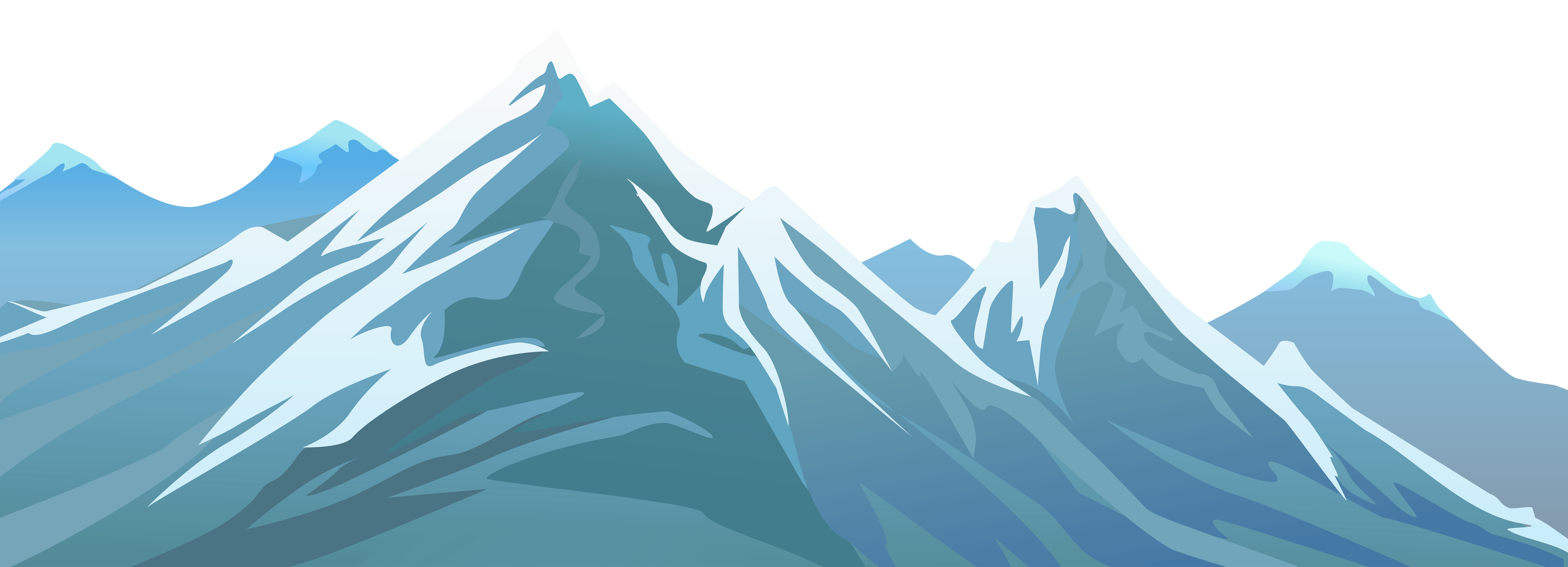 Snowy transparent png clip. Clipart mountains mountain side