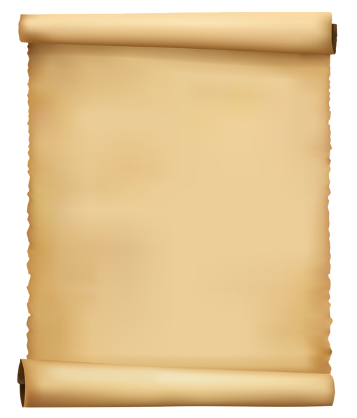 Clipart map old. Scrolled ancient paper png