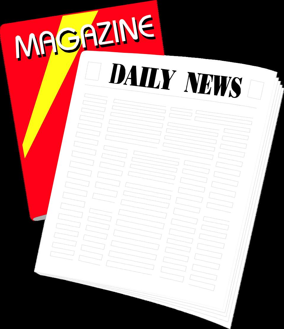 Newspaper clipart newspapaer. Periodicals free stock photo
