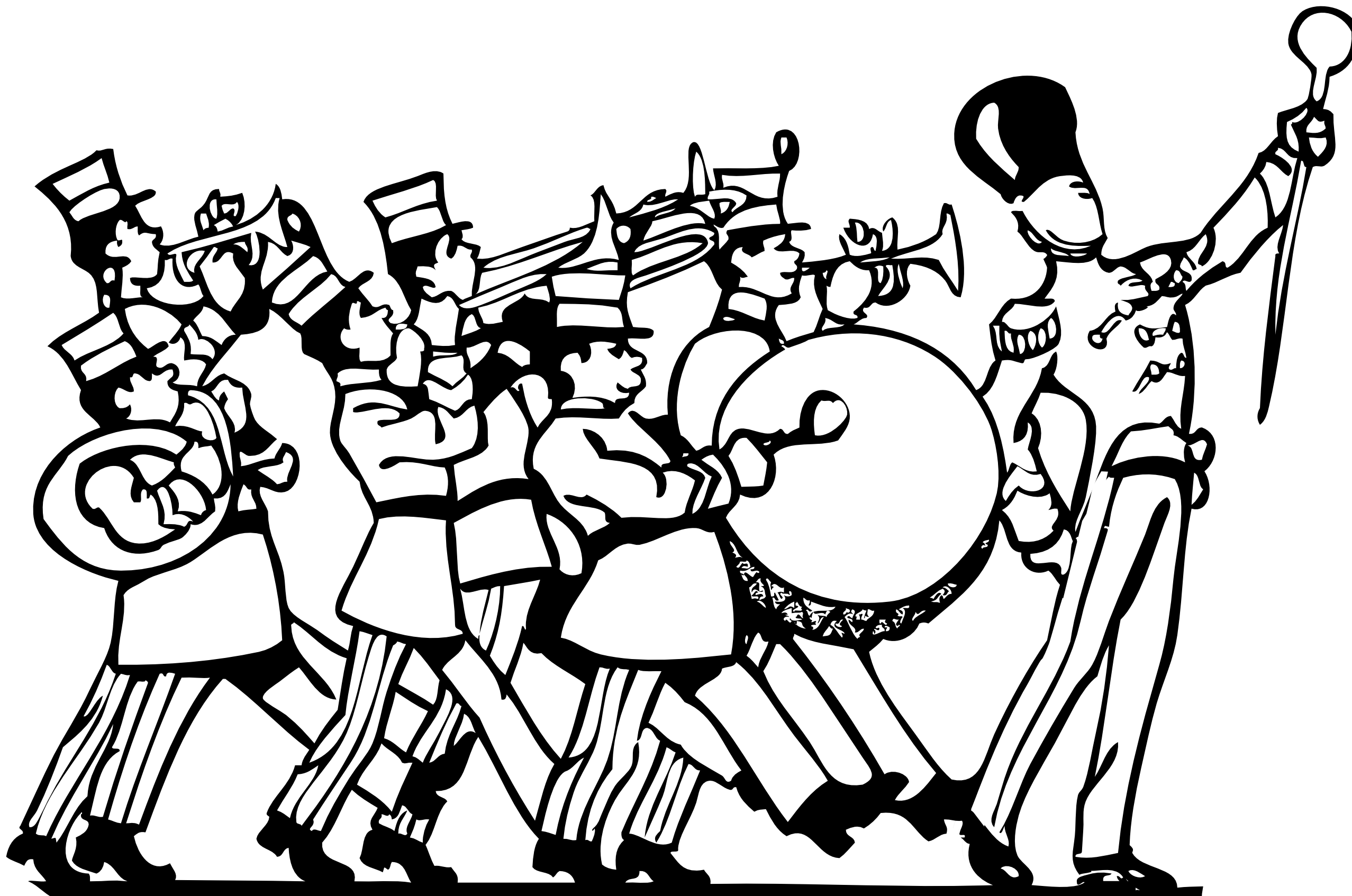 collection of parade. Jazz clipart pop band