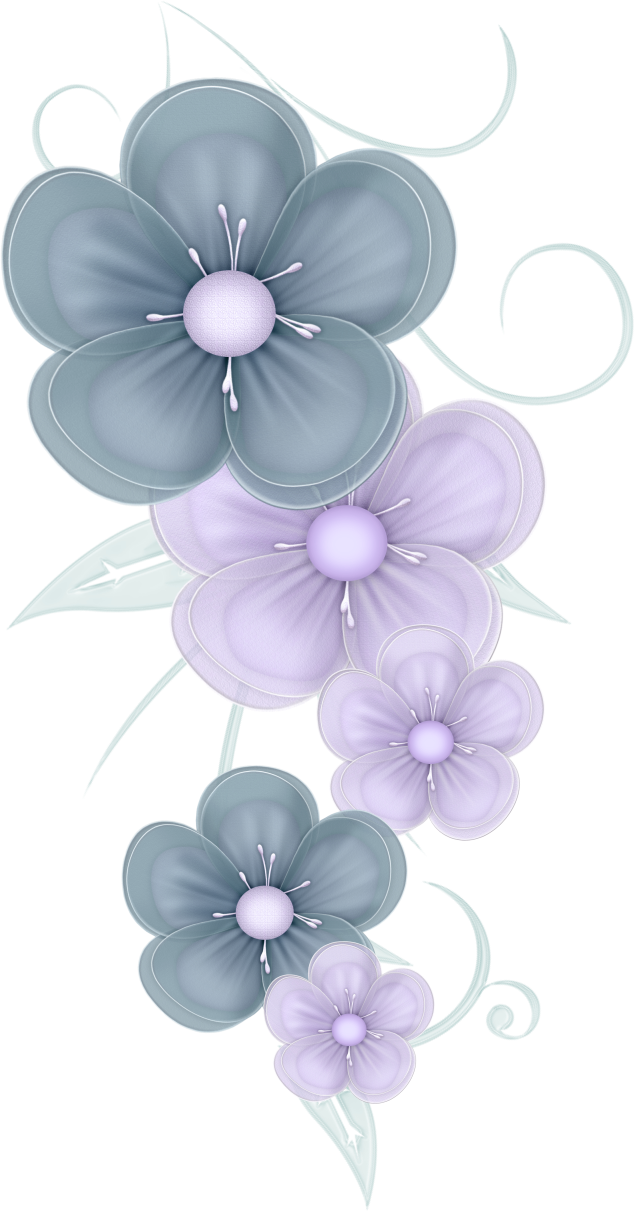 Flowers png by pvs. Flower clipart blue jasmine