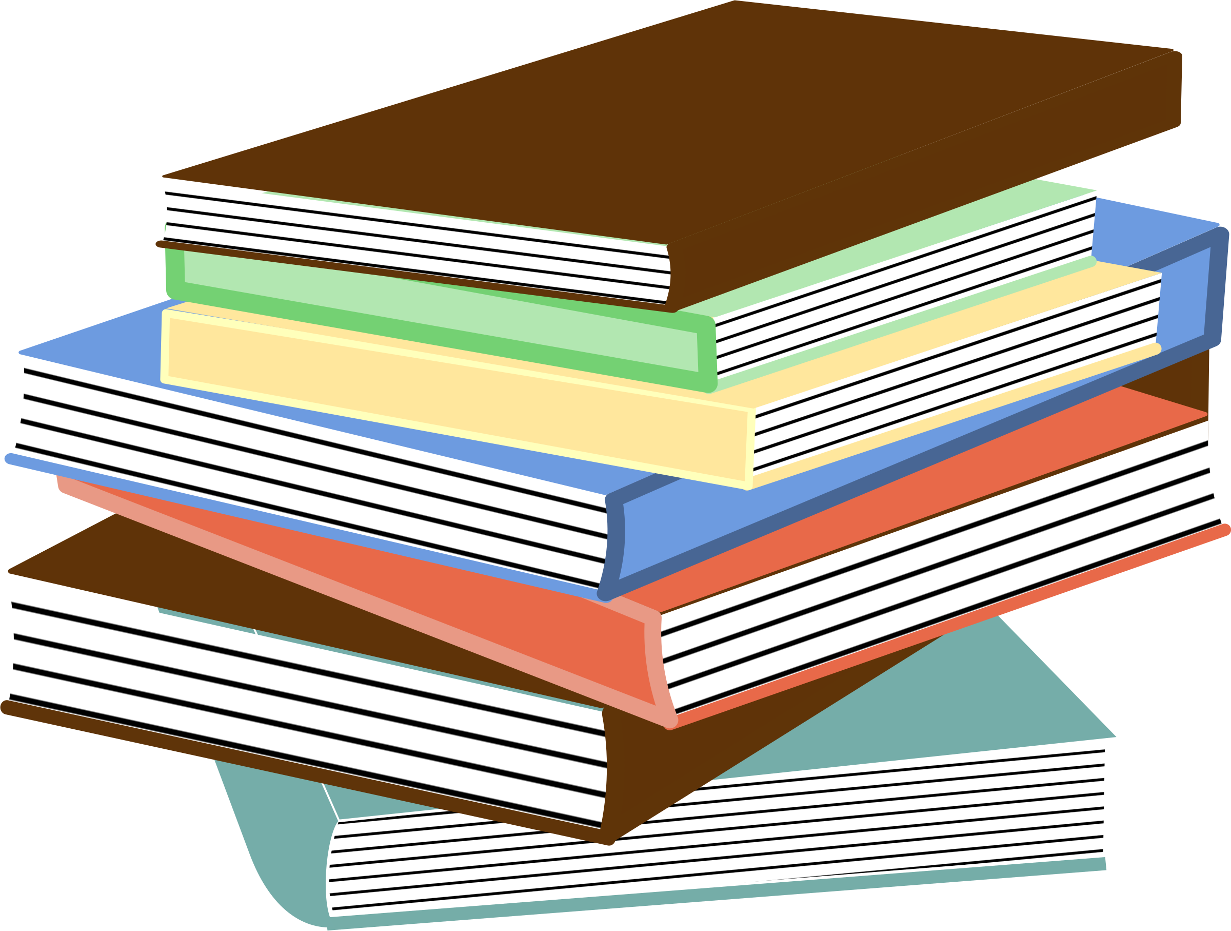 Clipart homework stack. Of books big image