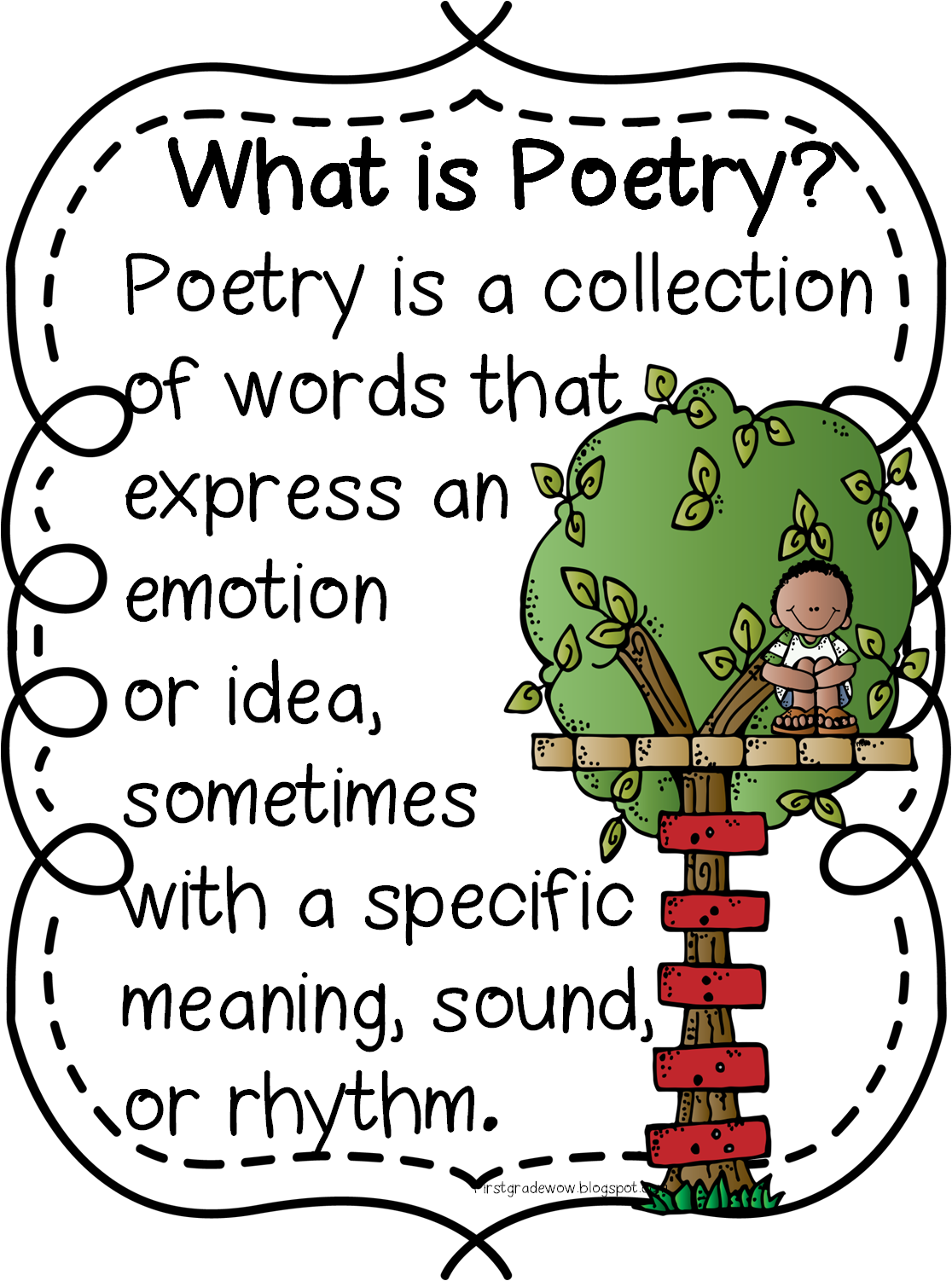 Poetry clipart review. Poem first grade pencil