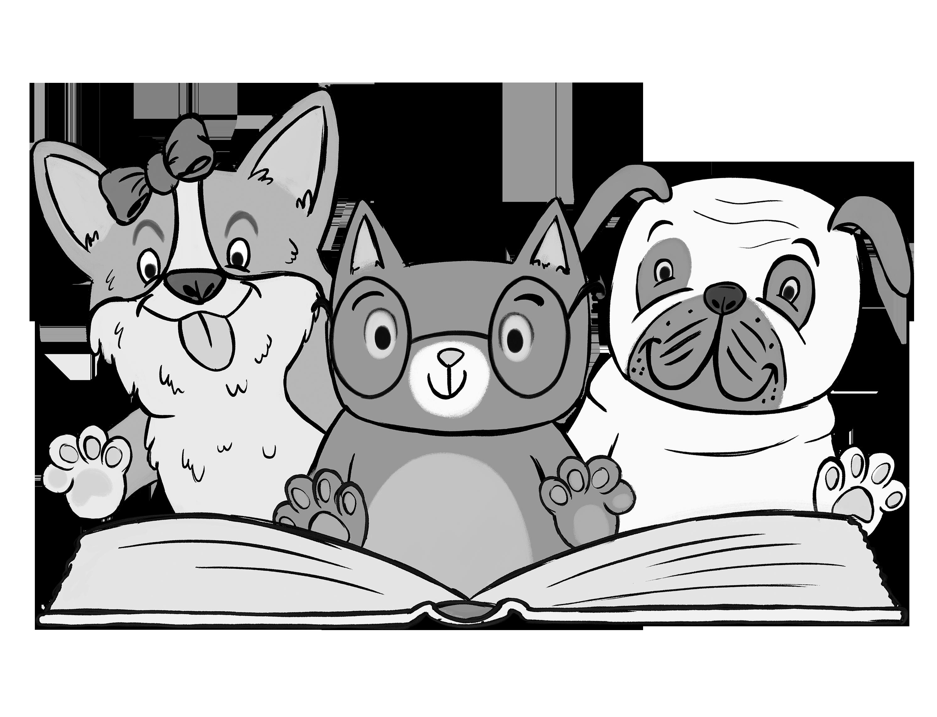Scholastic canada book fairs. Clipart cat school