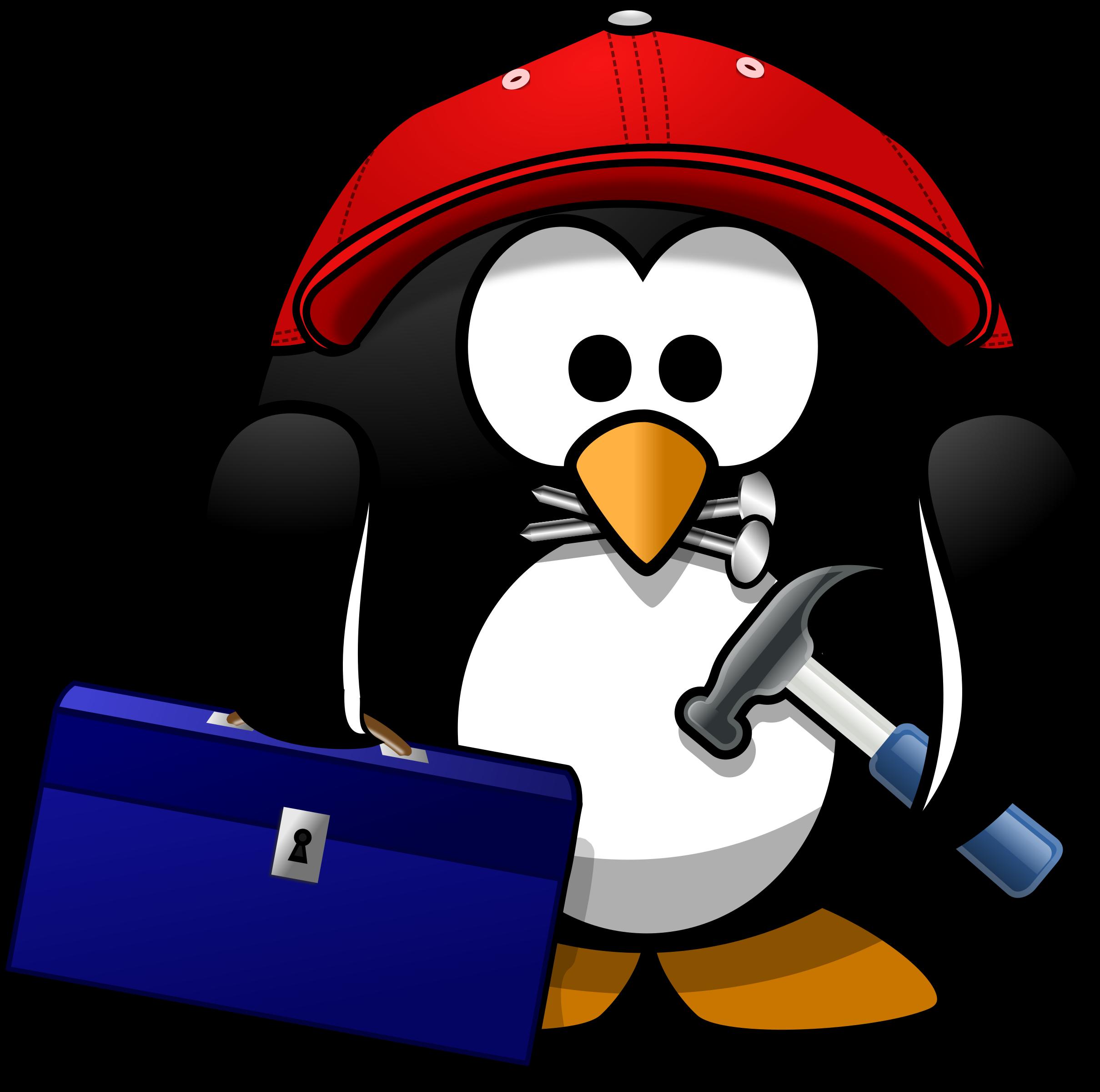 Craftsman big image png. Clipart penguin computer
