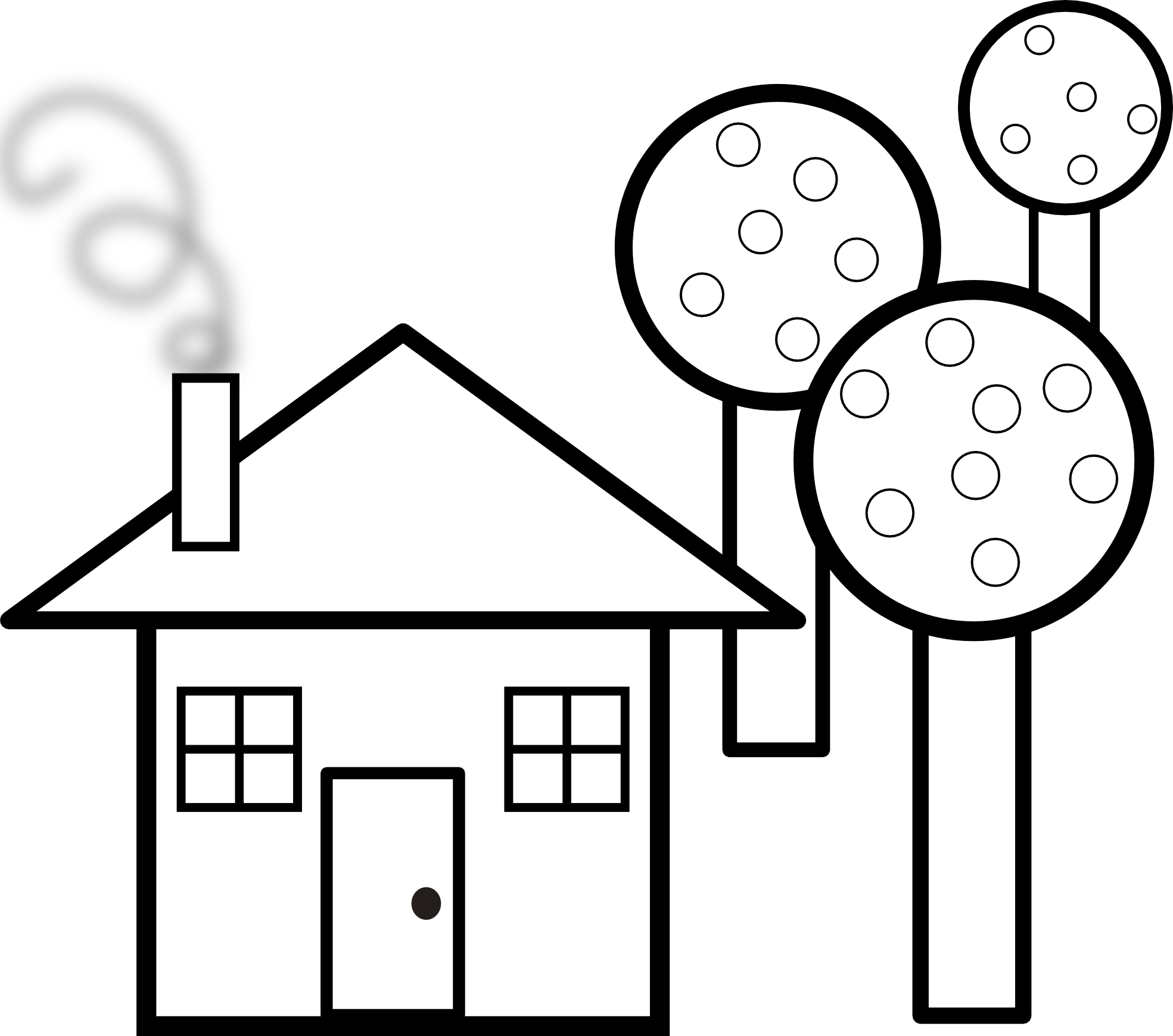 School house drawing at. Home clipart outline