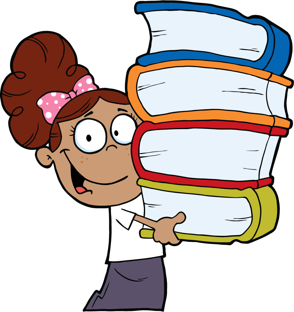 Hands clipart african american. Png girl with books